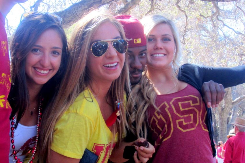 USC girl stanford tailgate
