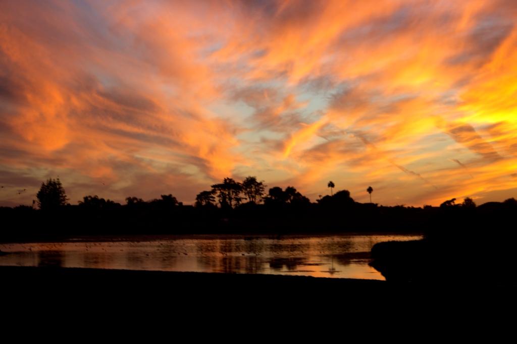 Malibu Sunset on the Lagoon