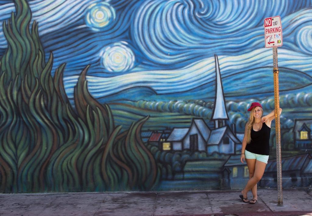 Starry Night Girl Venice Beach