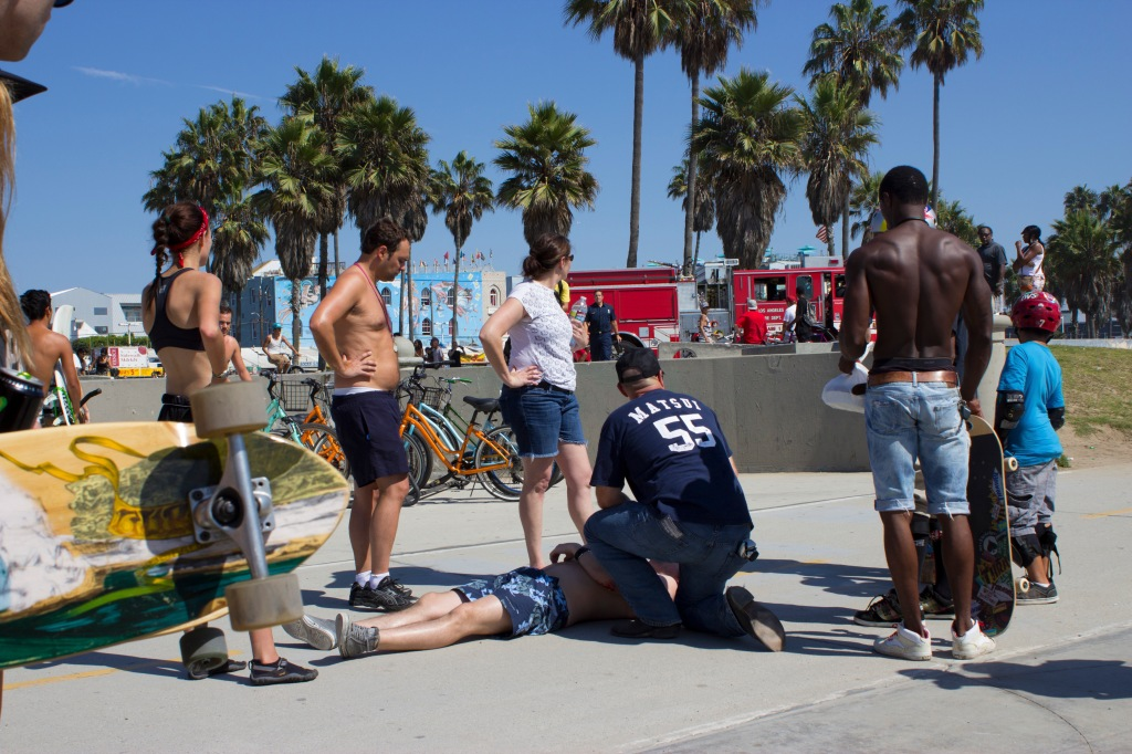Injury at venice beach