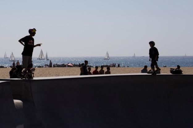 Skateboarders Venice Beach