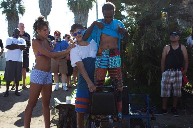 Venice Beach Street Performer Glass Man