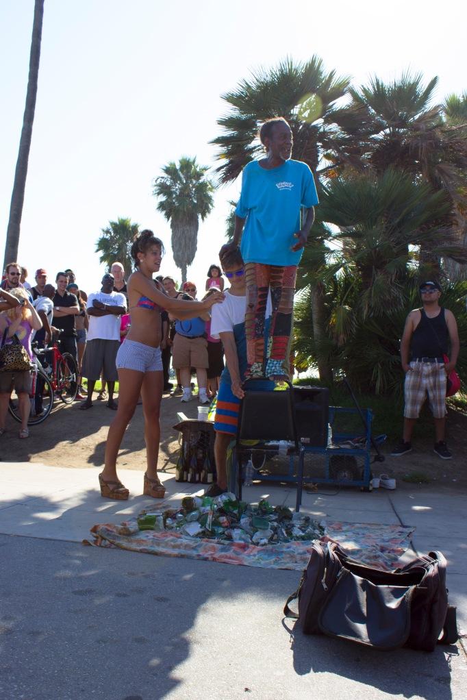 Glass Man Street Performer