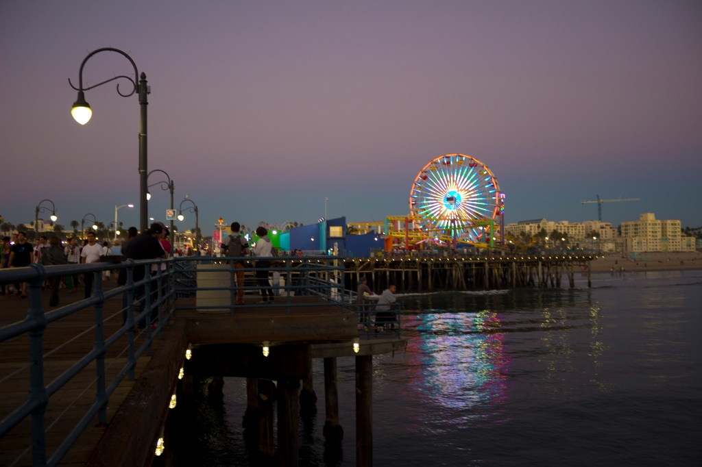view of santa monica ferris wheel