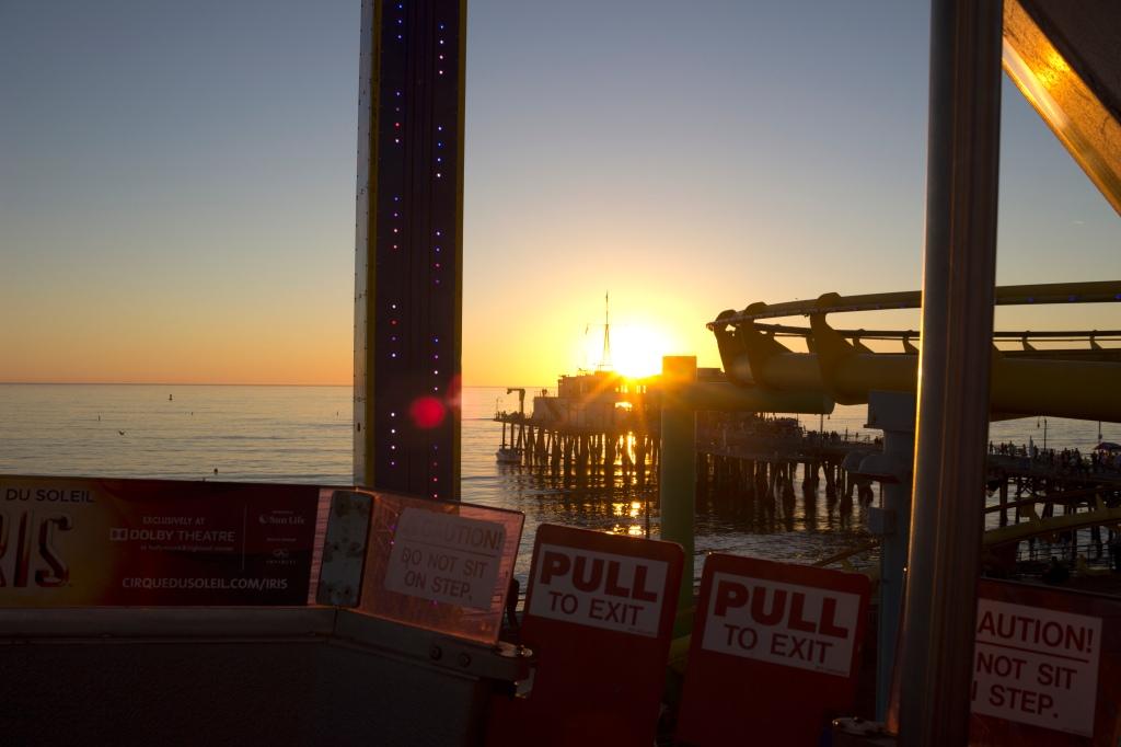 Sunset on the ferris wheel