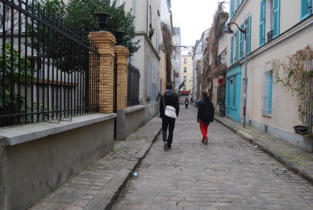 Lauren and our host walking