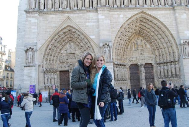 Us in front of Notre Dame