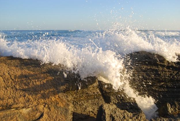 Water splashing at Light's Beach