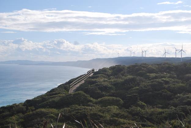 Windmills along the coast
