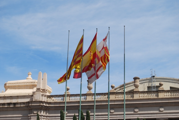 Flags in Barcelona