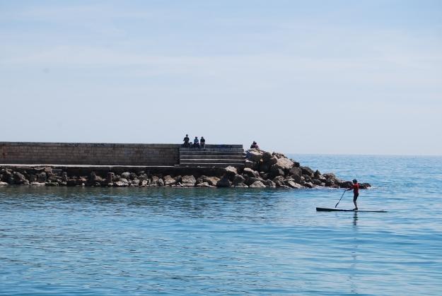 Quiet jetty in Sitges