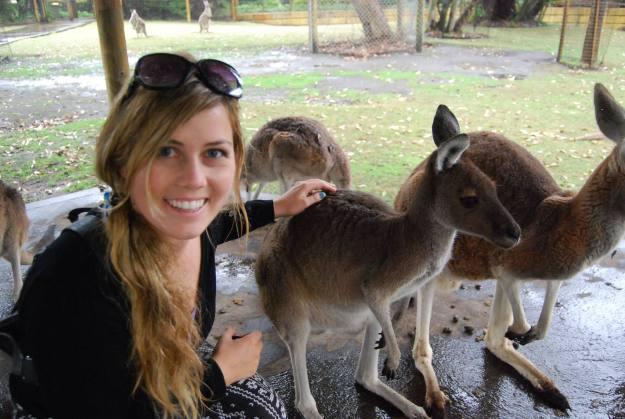 chantae petting kangaroo