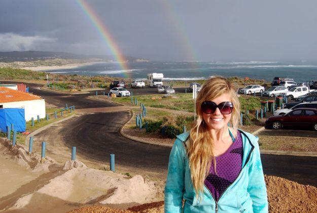 OMG a double rainbow!