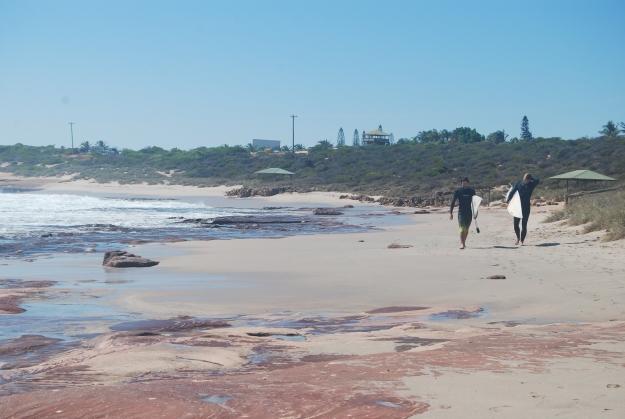 Aurel and Moritz walking after a session at Jake's Point