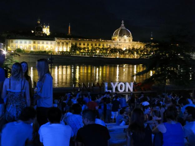 Beautiful Lyon riverside