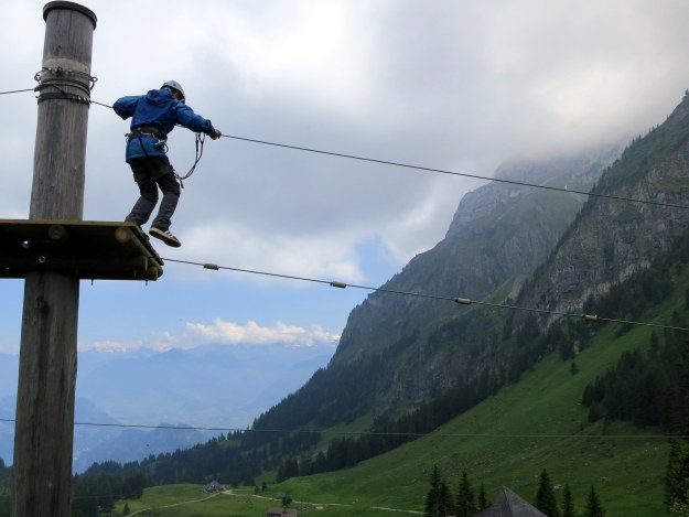 rope walking pilatus